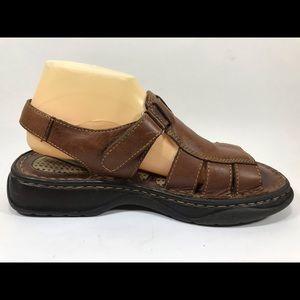 Born Shoes - Born Leather Fisherman Slingback Sandals 9M